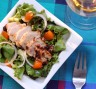 Persimmon Salad with Chicken Malai Tikka
