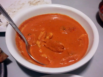 Lovely thick, slightly tangy, mildly spicy Gassi with boneless Rawas pieces. Perfect with the Neer Dosa