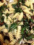 Fusilli with Mushrooms and Spinach
