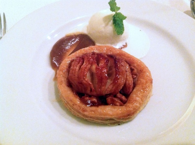 Warm Tarte Tatin, Vanilla Ice-Cream, Oven-Dried Apples