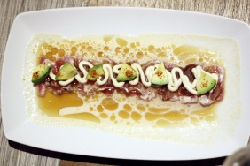 Cebiche of Tuna & Octopus in Tamarind Leche de Tigre Above 11, Bangkok