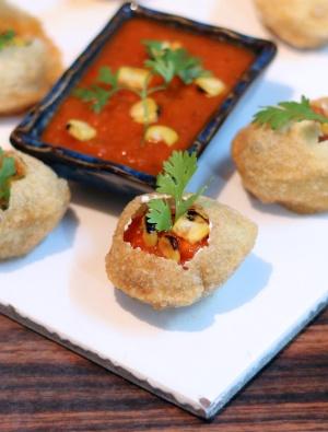 Tortilla Soup in a Puri