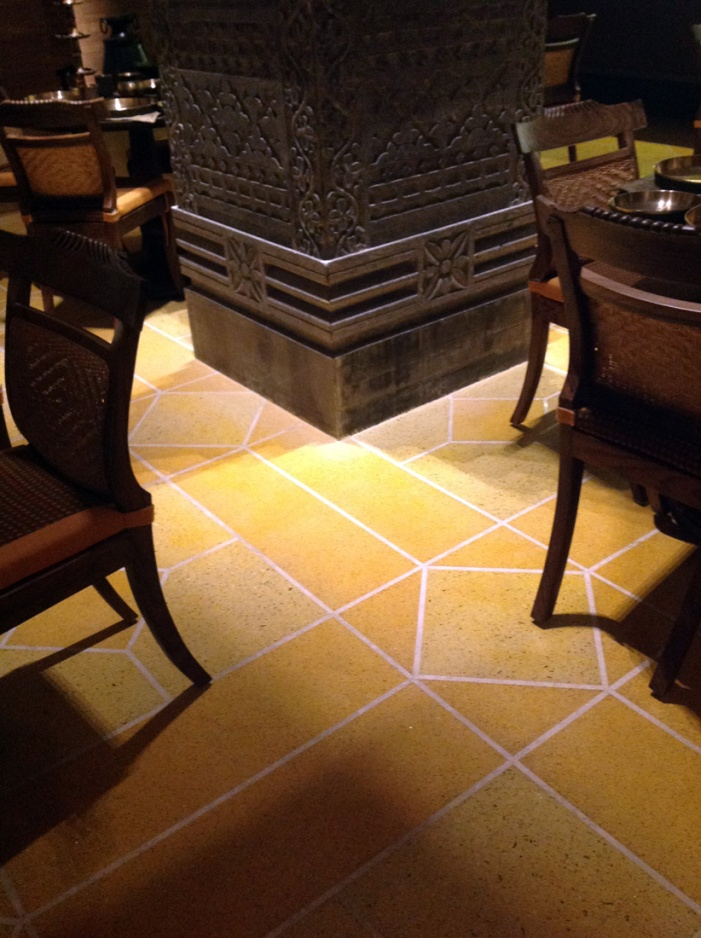 In situ mosiac flooring in the style of Goan houses