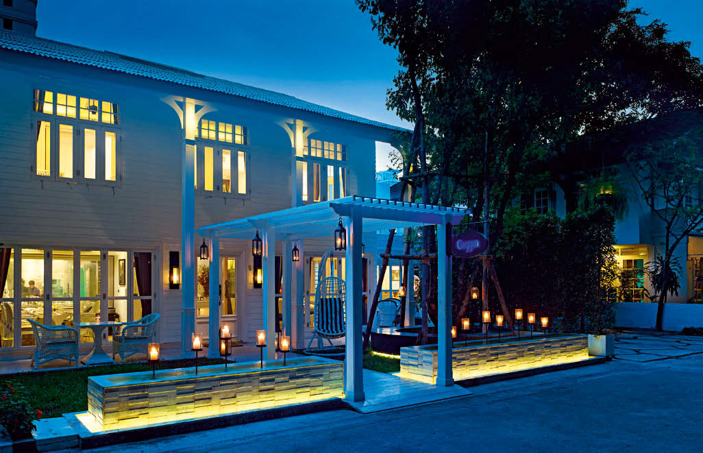 Gaggan is housed in a whitewashed colonial bungalow in Bangkok