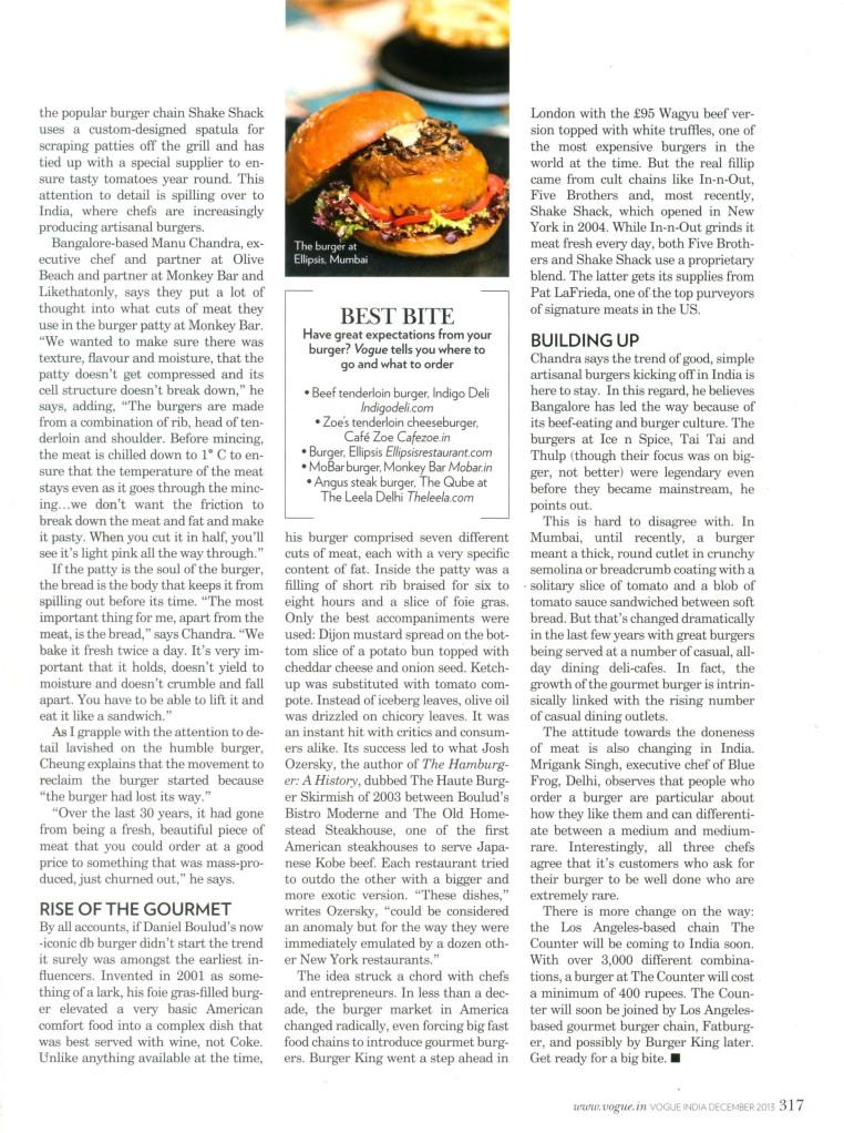 Burgers, Vogue India, Dec 2013