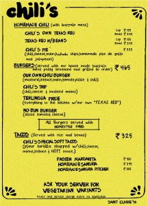 The Original Circa 1975 Menu