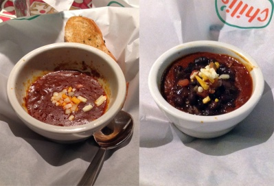 Chili's Own Texas Red (L) and Texas red with Beans (R)