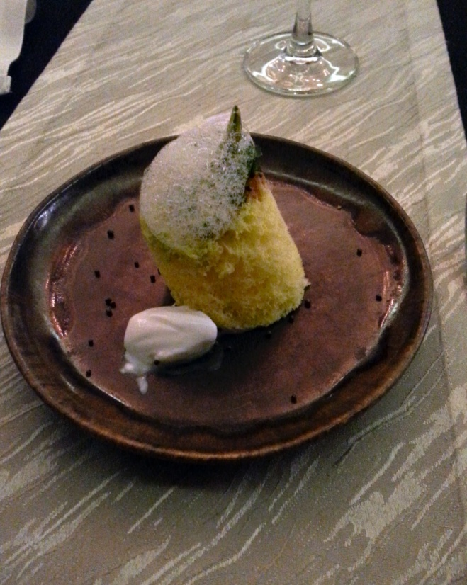 Gaggan's version of dhokla
