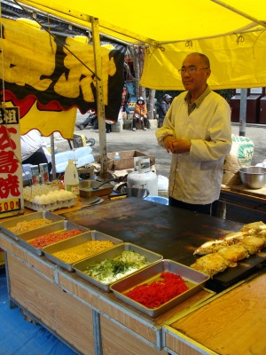 Okonomiyaki Stall at Sensō-ji Temple, Asakusa
