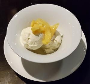 Basil-Chilli Ice cream with Jackfruit EAST, Sahara Star, Mumbai