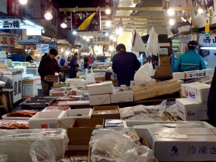 Wholesalers at Tsukiji