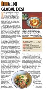Hindustan Times Mumbai review of The Bombay Canteen