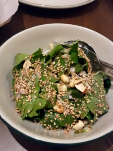 Methi and Arugula with mungphali, sesame and lime-honey dressing The Bombay Canteen, Mumbai