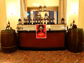 A display of Argentine wines