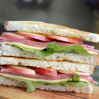 Ham, Cheese and Apple Sandwich
