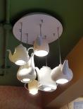 Interiors Teapot Lamp Wagh Bakri Tea Lounge, Vile Parle