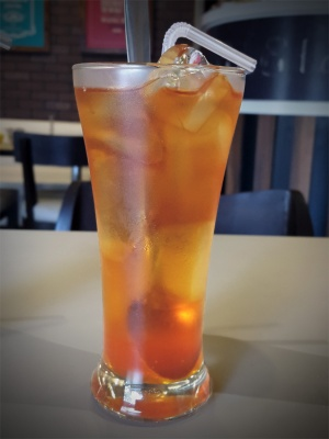 Orange Iced Tea Wagh Bakri Tea Lounge, Vile Parle