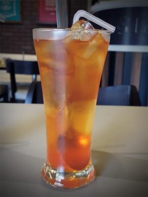 Orange Iced Tea Wagh Bakri Tea Lounge, Vile Parle