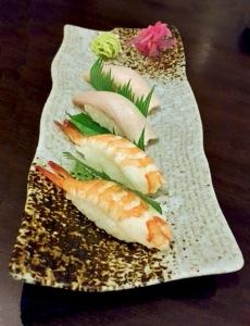 Hamachi and Shrimp Nigiri, Saizen, Colaba low