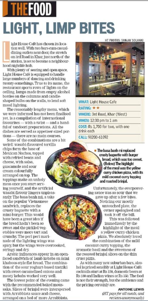 Light House Café review Hindustan Times