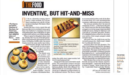 Monkey Bar Review Hindustan Times