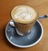 An Australian piccolo latte