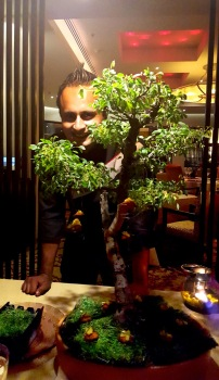 Vikramjit Roy with his creation Tian, Asian Kitchen Studio, ITC Maurya, New Delhi