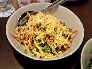 Chilled Seafood Bhel with Kairi Date Chutney and Sev The Bombay Canteen, Mumbai