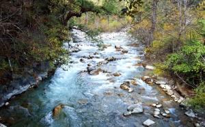 Crystal clear springs in Bhutan
