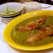 Panchphoron-flavoured Parshe with Smoked Green Chilli Sauce, Bohemia, Kolkata