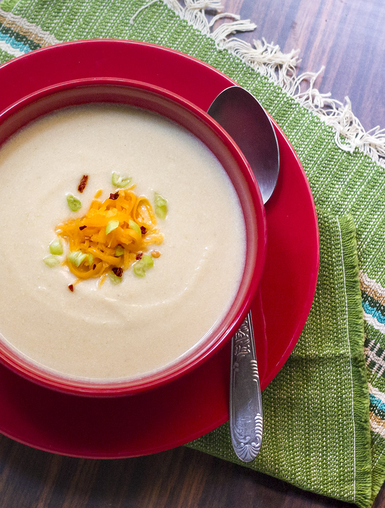 A spicy potato and cheese soup based on the Bhutanese kewa datshi