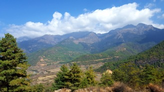 The view from Drukgyel Dzong, Paro