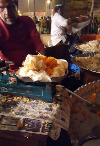 The paratha and halwa are sold by weight, Mahim Urs Festival, Mumbai