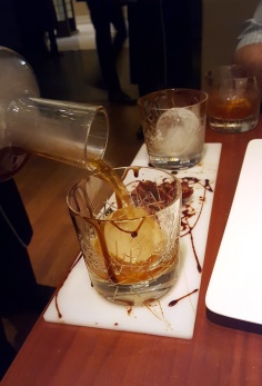 Bacon and Chocolate Manhattan, Romanos, JW Marriott, Sahar