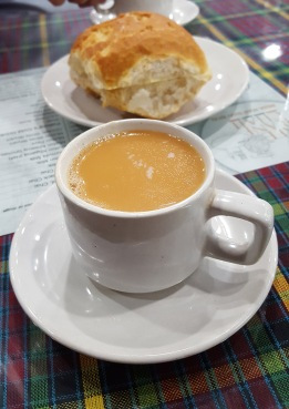 Irani chai and brun maska, Cafe Irani Chaii