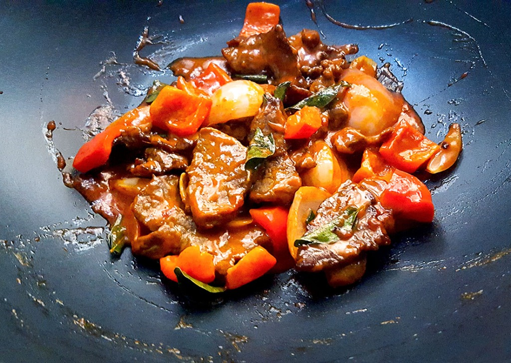 Beef with gochujang and coconut milk