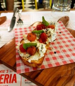 Roasted Tomato Bruschetta, Jamie's Pizzeria, Phoenix Mills, Mumbai