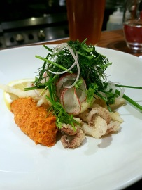 Crispy Squid with Romesco Sauce and Fine Herbs, Hadskis, Belfast