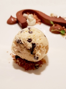 Textures of Chocolate, pliable ganache, whipped chocolate, smoked chocolate ice cream Botticino, Trident BKC, Mumbai