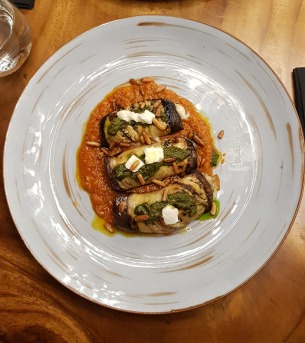 Eggplant Involtini, 266 Wine Room and Bar, Bandra