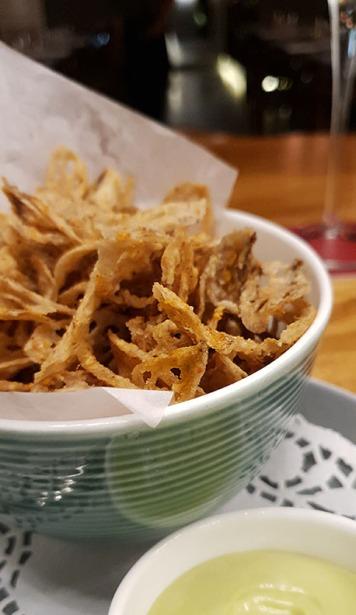 Lotus Stem Crisps, 266 Wine Room and Bar, Bandra