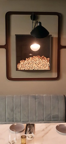 Wine corks frame, 266 Wine Room and Bar, Bandra