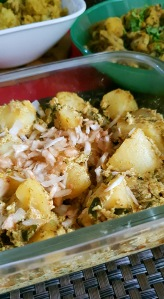 Dahi Aloo, Spices and Friends