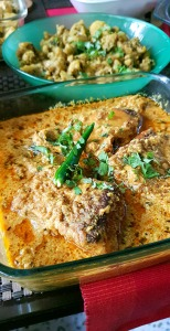 Fish in yogurt sauce, Spices and Friends