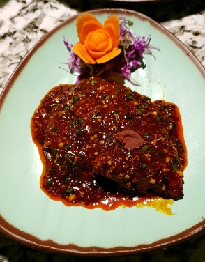 Pan-fried Pomfret in Yellow Bean Sauce, Open China, Juhu