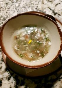Seafood Coriander Soup, Open China, Juhu